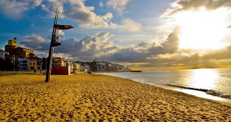 Playas costa de Barcelona