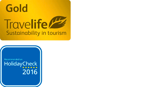 Travelife Gold 2016 | HolidayCheck Recommanded