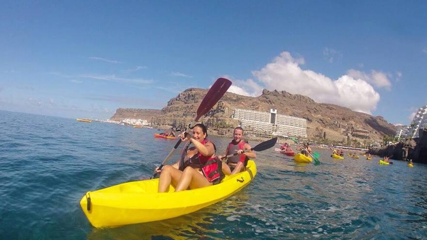 A Kayak Route to discover the landscapes of Gran Canaria