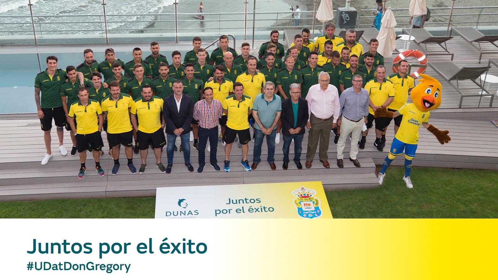 7ter Aufenthalt des Fußballvereins Unión Deportiva Las Palmas im Don Gregory