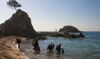 Actividades buceo costa brava playa mar menuda