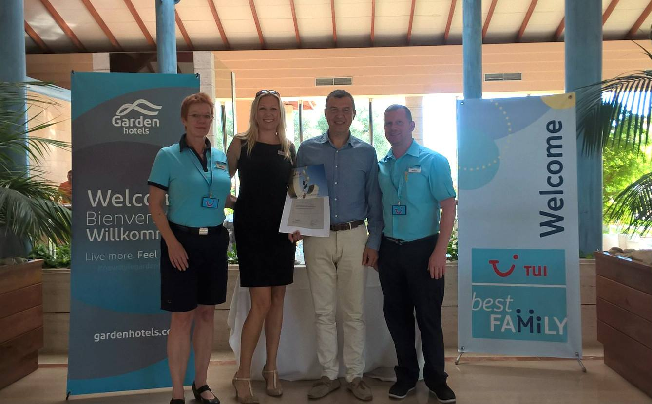Playa Garden Selection Hotel & Spa receives the TUI award for best sustainable hotel