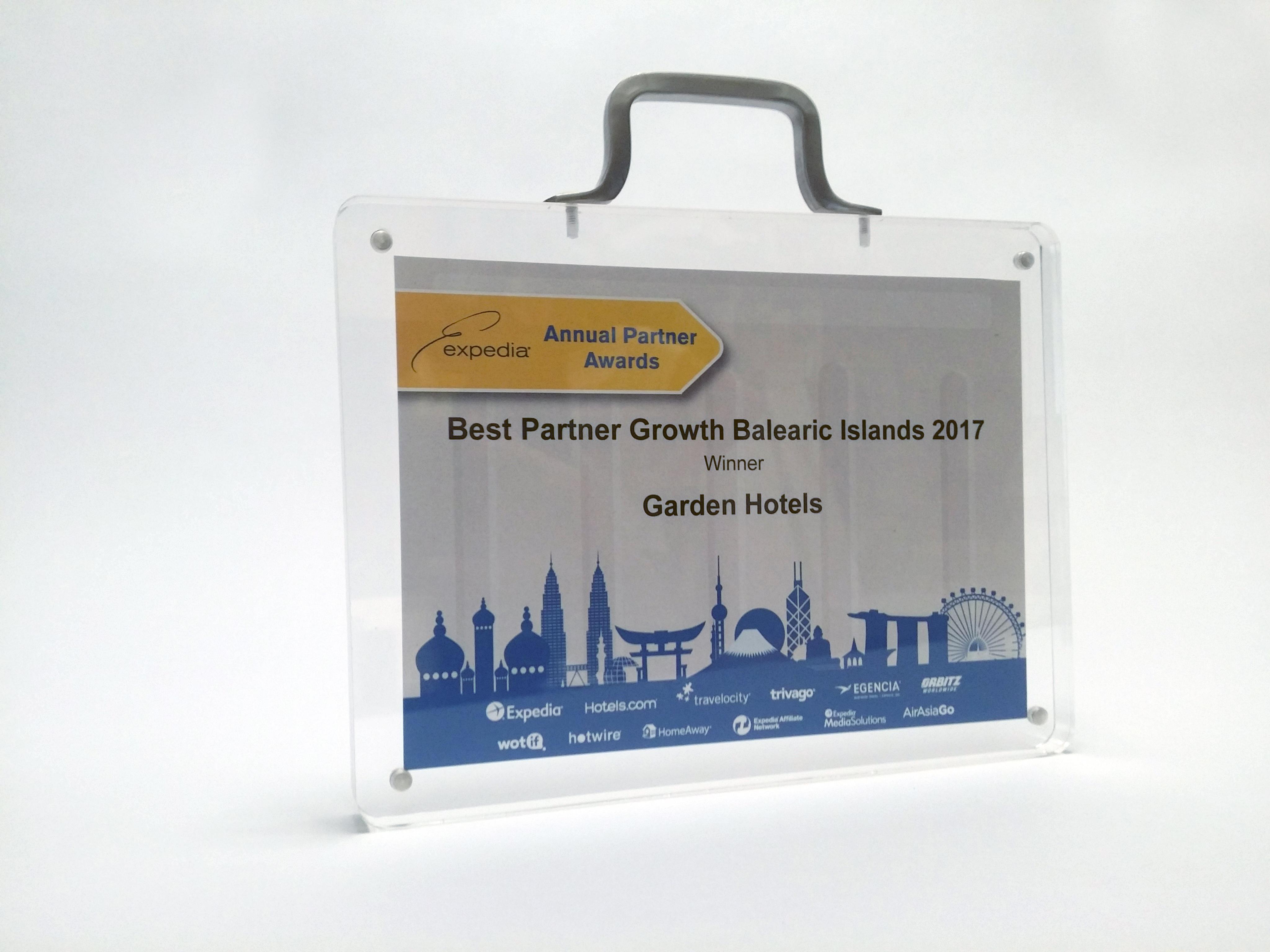 Garden Hotels, gana el premio al partner con mejor crecimiento en el Evento Anual de Expedia Baleares