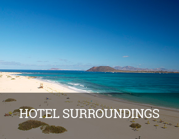 The Gran Hotel Atlantis Bahia Real 5* GL is located in one of the most beautiful places on the island of Fuerteventura, opposite the sea, next to the Natural Park of the Corralejo Dunes and close to the beautiful fishing village of Corralejo.